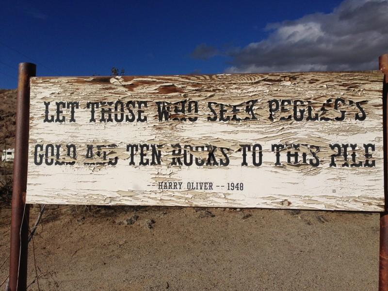 """Let those who seek Pegleg's gold add ten rocks to this pile."""