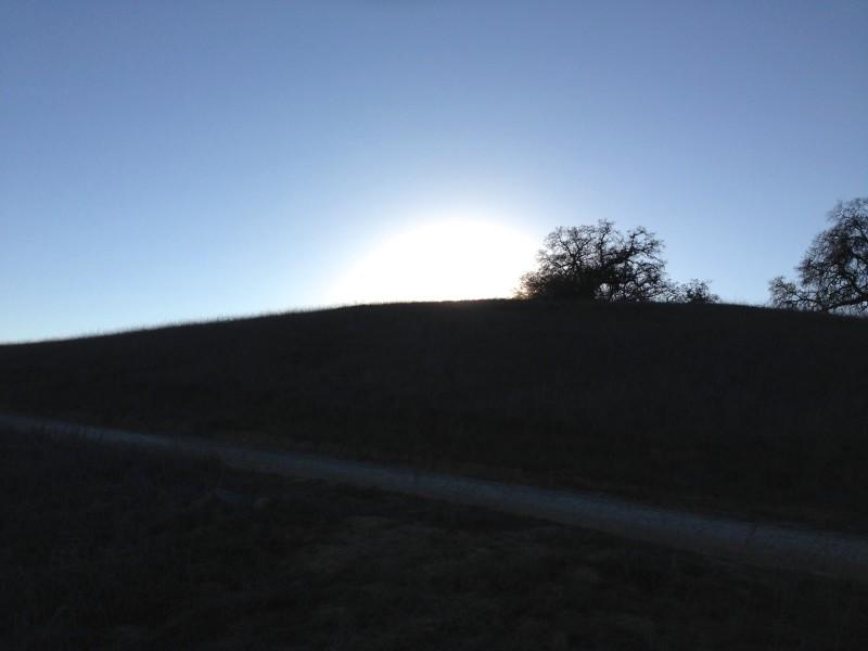 NO. 1005 SANTA ROSA RANCHO - We got back just before sunset.