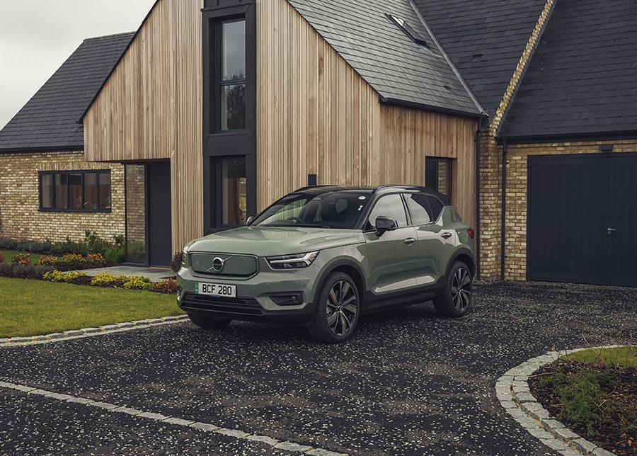 Volvo XC40 Recharge new trim parked