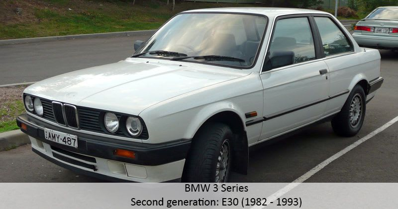 BMW 3 Series second generation model