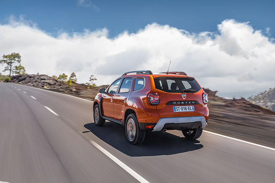 New Dacia Duster rear view driving