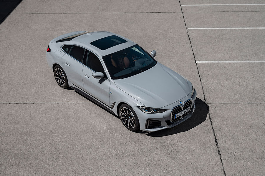 New BMW 4 series gran coupe top view