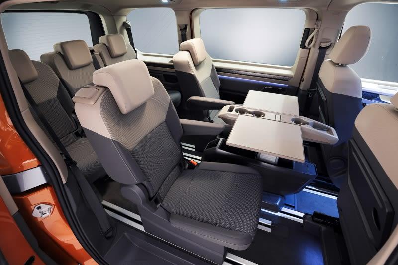 VW Multivan rear passenger interior