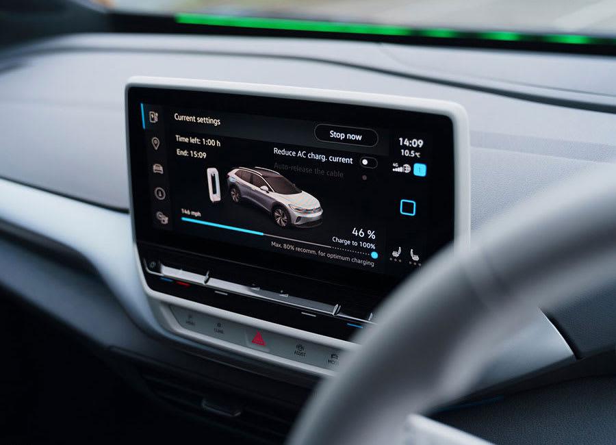 VW ID.4 charging screen
