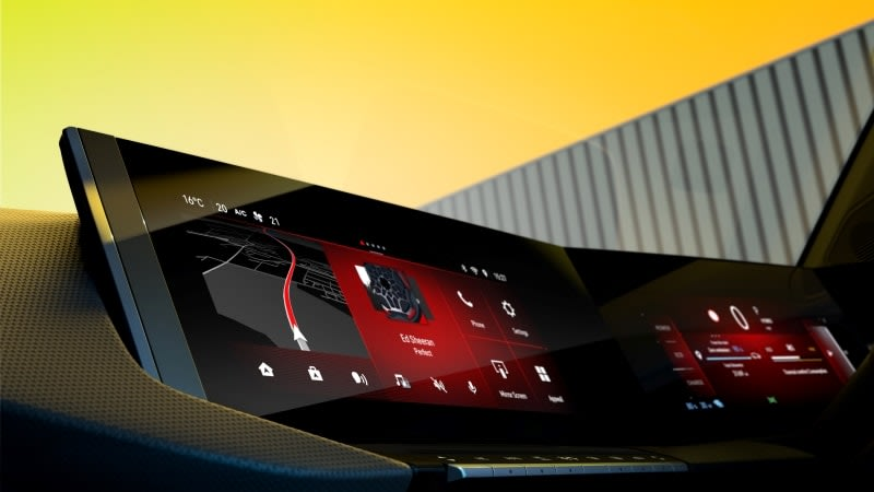 New Vauxhall Astra touchscreen display
