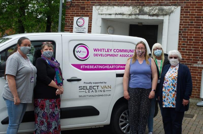 Whitley CDA ladies in front of donated van