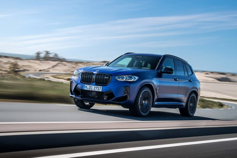 BMW X3 M front view driving