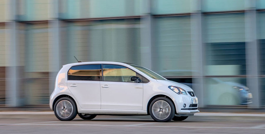 Seat Mii Electric side view