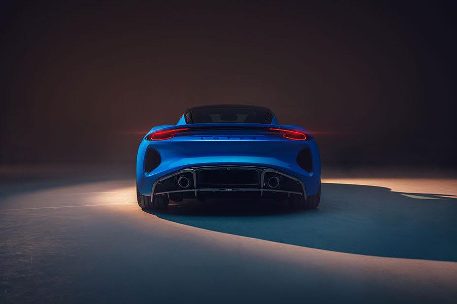 New Lotus Emira rear view
