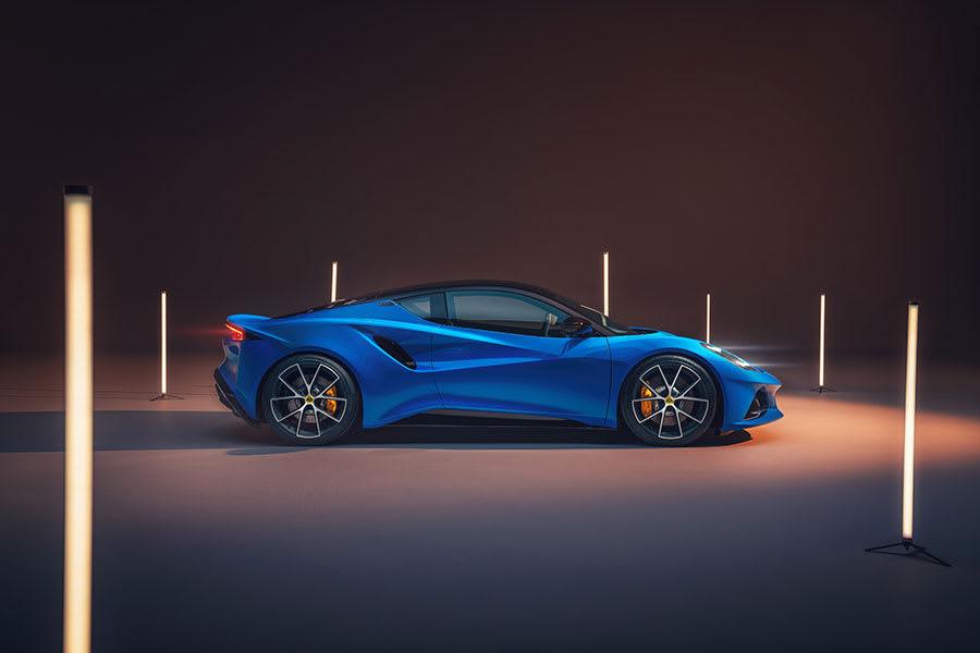 New Lotus Emira side view