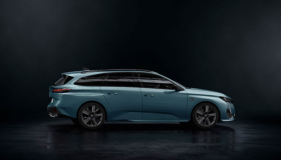 new Peugeot 308 SW estate side view