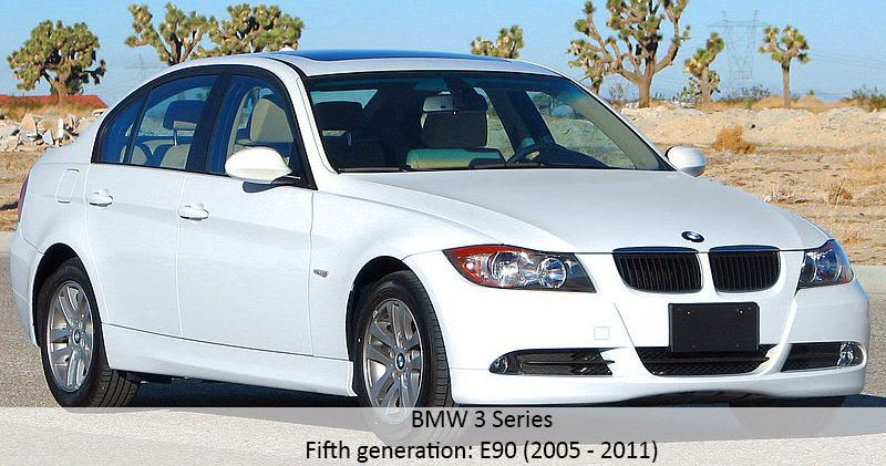 BMW 3 Series fifth generation model