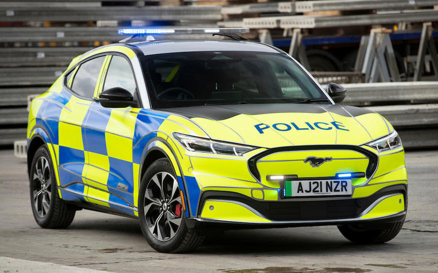 The police go green with the Ford Mustang Mach-E