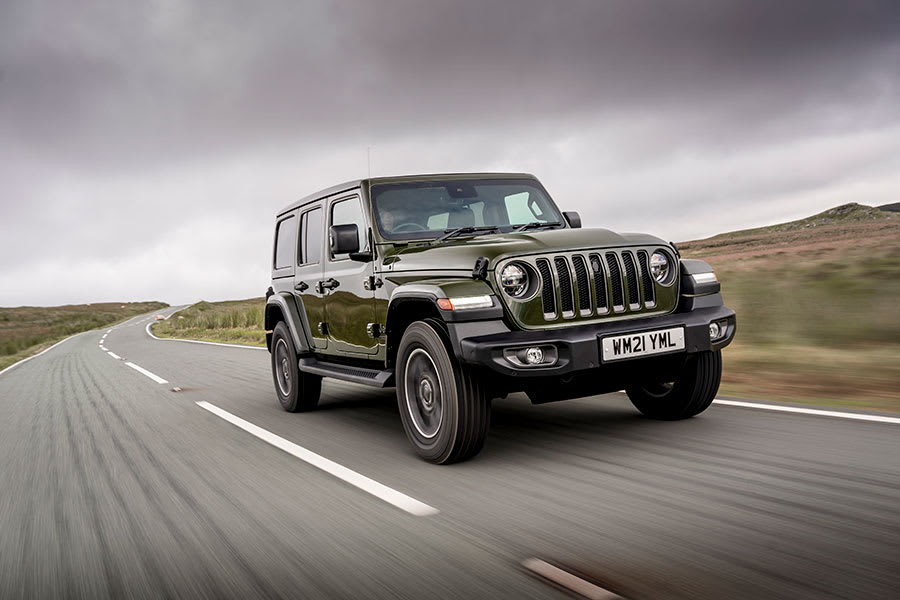 Jeep Wrangler front view