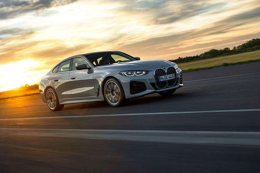 New BMW 4 series gran coupe moving
