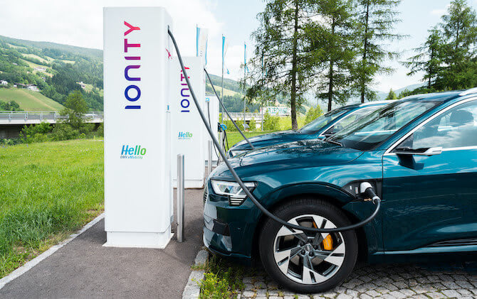 Audi electric car charging