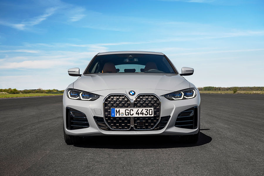 New BMW 4 series gran coupe front view