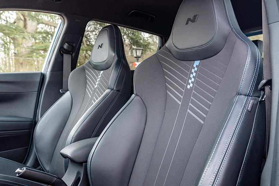 Hyundai i20N interior front seats