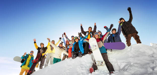 Group of skiiers