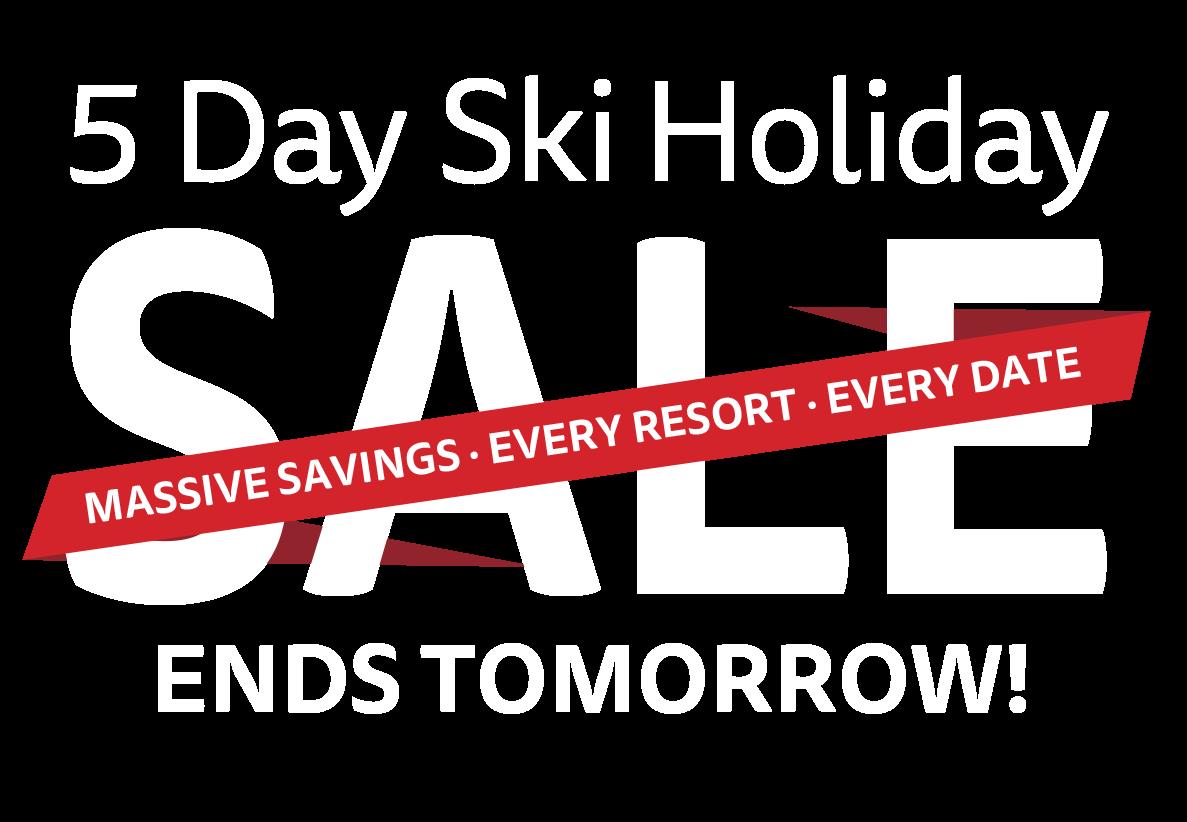 Topflight 5 Day Ski Sale Now On.