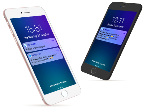 notifiche dal chatbot di eproject