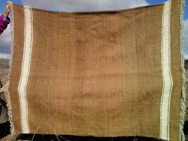 Brown, White Btaniya Rug