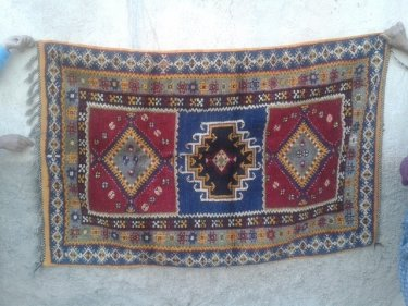 Colored Pile knot rugs (Zrbyia)