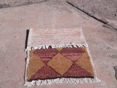 Yellow, Orange Wool String and Wool Pile Rug