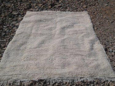 White Warp  and Wool Thread  Azilal Rug