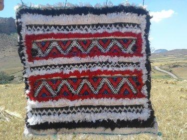 Red, Black Rag Fabric 7019