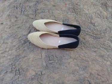 Black, White Boho Shoes