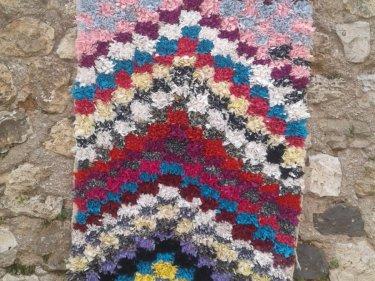Colored Wool Boucherouite