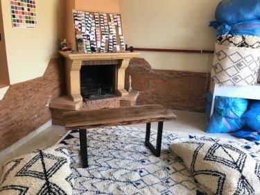 Brown Walnut Wood Wood Table