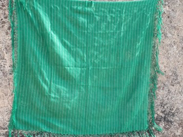 Green Cotton string Scarf
