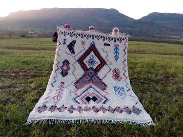 Colored Beni Ourain Rug