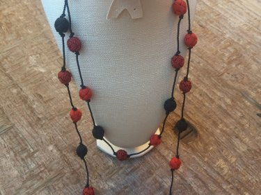 Red, Black  Necklace