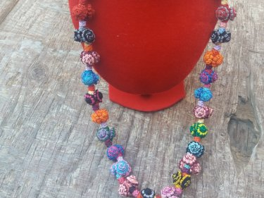 Colored  Cluster Necklace