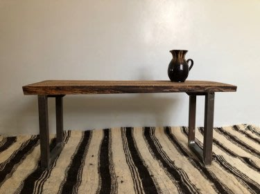 Brown Walnut Wood Wood Table