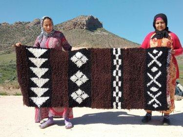 Brown, Black Boucherouite Rug