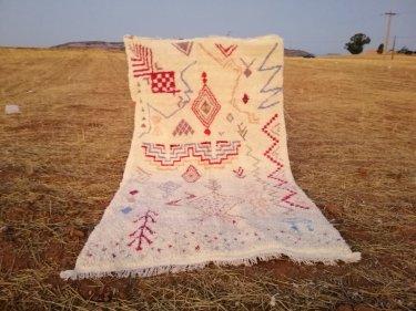 Colored Beni Ourain Rug