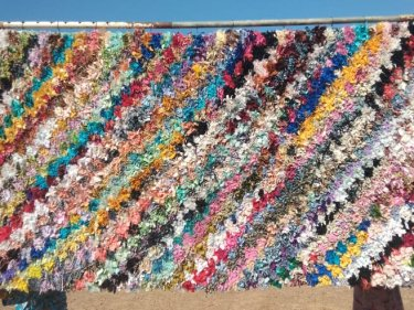 Colored Cotton and Rag Fabric Boucharouite