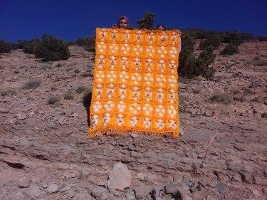 Orange, White Wedding Blanket