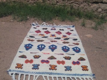 Colored Flatweave Rug
