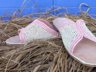 Pink, White Boho Shoes