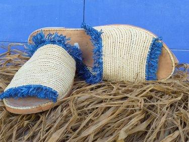 Blue, White Boho Shoes
