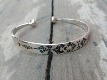 Black, White 800 Tiznit Silver Bracelet