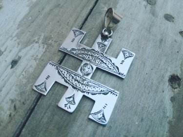 Black, White 800 Tiznit Silver Necklace