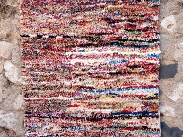 Colored Dyed Wool Pile Knot Rug