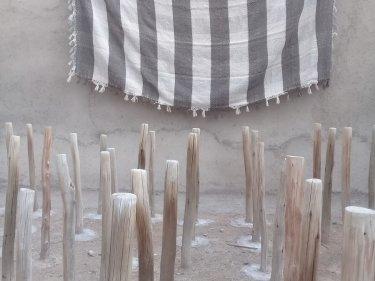 Brown, Grey Synthetic Wool Blanket