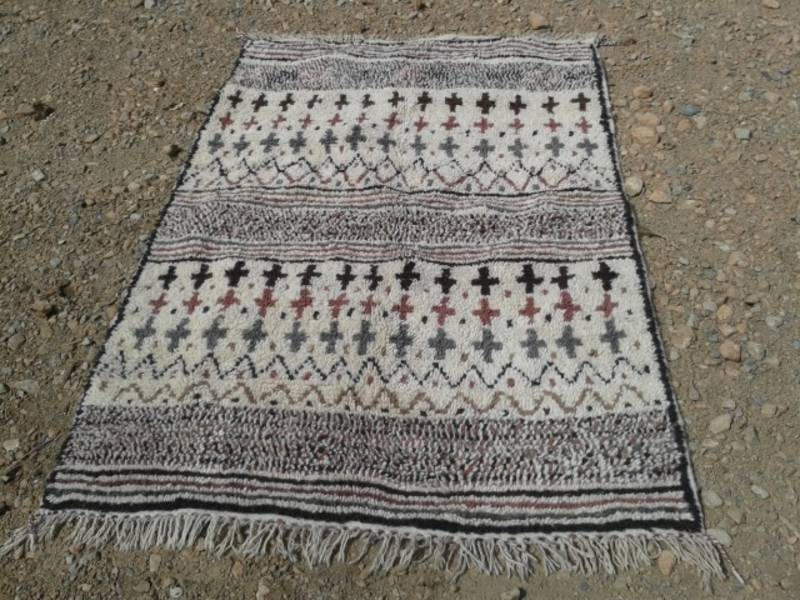 Colored Wool and Cotton Warp Azilal Rug